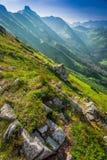 Belle aube dans les montagnes de Tatras Photo libre de droits