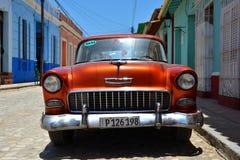 Belle automobili di Cuba, Trinidad Fotografia Stock Libera da Diritti