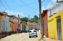 Belle automobili di Cuba, vie di Trinidad Immagine Stock