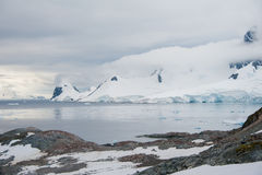 Belle baie en Antarctique Image stock