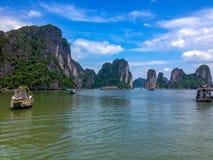 Belle baie long d'ha, Vietnam photos libres de droits