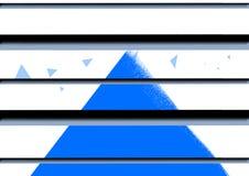 Belle bannière fond d'abrégé sur de fond de conception bleue d'art illustration de vecteur