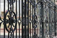 Belle barrière noire en métal image libre de droits