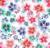 Belle belle mauve colorée magnifique artistique de fines herbes florale tendre sophistiquée mignonne avec le modèle coloré de feu Images stock