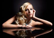 Belle blonde Image stock