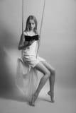 Belle blonde photo libre de droits