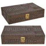 Belle boîte en cuir Image stock