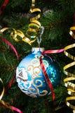 Belle boule bleue Photographie stock libre de droits