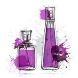 Belle bouteille de parfum Photo libre de droits