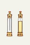Belle bouteille en verre décorative pour le parfum Images stock