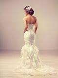 Belle brune de modèle de jeune mariée Images libres de droits