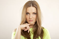 Belle brune de portrait Images stock