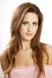 Belle brune de portrait Image libre de droits