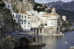 Belle côte d'Amalfi Photographie stock libre de droits