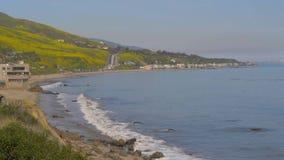Belle Côte Pacifique chez Malibu la Californie clips vidéos