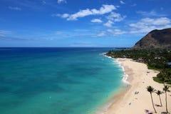 Belle côte d'Hawaï Photo libre de droits