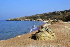 Belle côte de la mer d'Azov images libres de droits