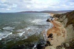 Belle côte de la mer d'Azov image libre de droits