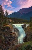 Belle cadute di Athabasca in Alberta immagini stock libere da diritti