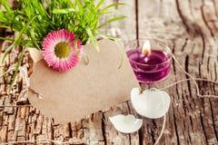 Belle candela ed etichetta in bianco di pasqua Immagini Stock