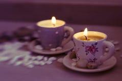 Belle candele Fotografie Stock