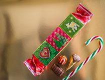 Belle caramelle di Chrismas fotografia stock libera da diritti