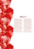 Belle carte cadeaux avec les ketmies rouges Photo libre de droits