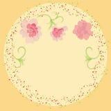 Belle carte d'invitation avec des fleurs Photos libres de droits