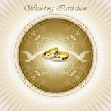 Belle carte d'invitation de mariage de cru Photographie stock