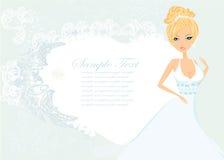 Belle carte de jeune mariée Photos stock