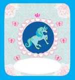 Belle carte de licorne Images stock