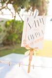Belle carte de mariage Photos stock