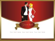 Belle carte de mariage d'élégance Photo stock