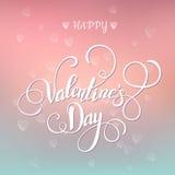 Belle carte de Valentine avec le lettrage Images stock
