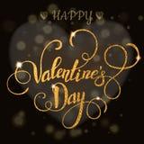 Belle carte de Valentine avec le lettrage Image libre de droits