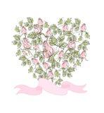 Belle carte de vecteur avec des roses sous forme de Photos libres de droits
