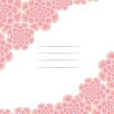 Belle carte de voeux avec des fleurs des côtés Photo stock