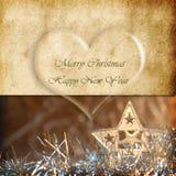 Belle carte de voeux de Noël Image libre de droits