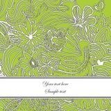 Belle carte de voeux florale Photos stock
