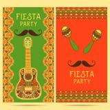 Belle carte de voeux, invitation pour le festival de fiesta illustration stock