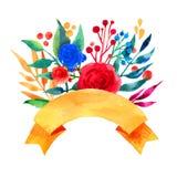 Belle carte lumineuse florale d'invitation d'illustration de carte de voeux pour épouser, anniversaire et vacances et fond mignon Photos libres de droits