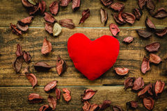 Belle carte pour le jour de ValentineImages libres de droits