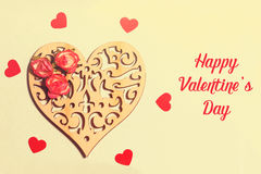 Belle carte pour le jour du ` s de Valentine Image libre de droits