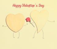Belle carte pour le jour du ` s de Valentine Photos libres de droits