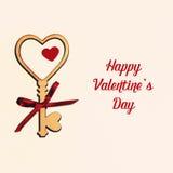 Belle carte pour le jour du ` s de Valentine Photographie stock libre de droits
