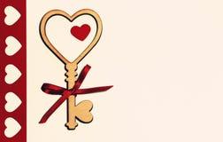 Belle carte pour le jour du ` s de Valentine Photo libre de droits