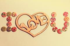 Belle carte pour le jour du ` s de Valentine Images stock