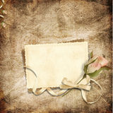 Belle carte pour les félicitations ou l'invitation Photo libre de droits