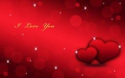 Belle carte votre aimée image stock