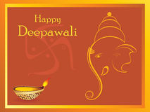 Belle cartoline d'auguri per la celebrazione di diwali Immagini Stock Libere da Diritti